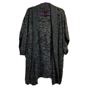TORRID aqua and black mottled cardigan